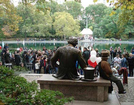 October 25, 2015 celebrating 60 years ofHans Christian Andersen statue and storytelling in New York Central Park
